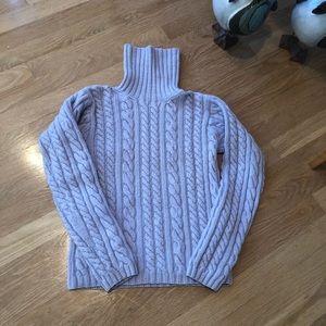 Autumn Cashmere cable knit lavender sweater size s